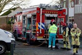 Bewoner belandt in het ziekenhuis na woningbrand