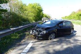 Veel schade bij eenzijdig ongeval op N246